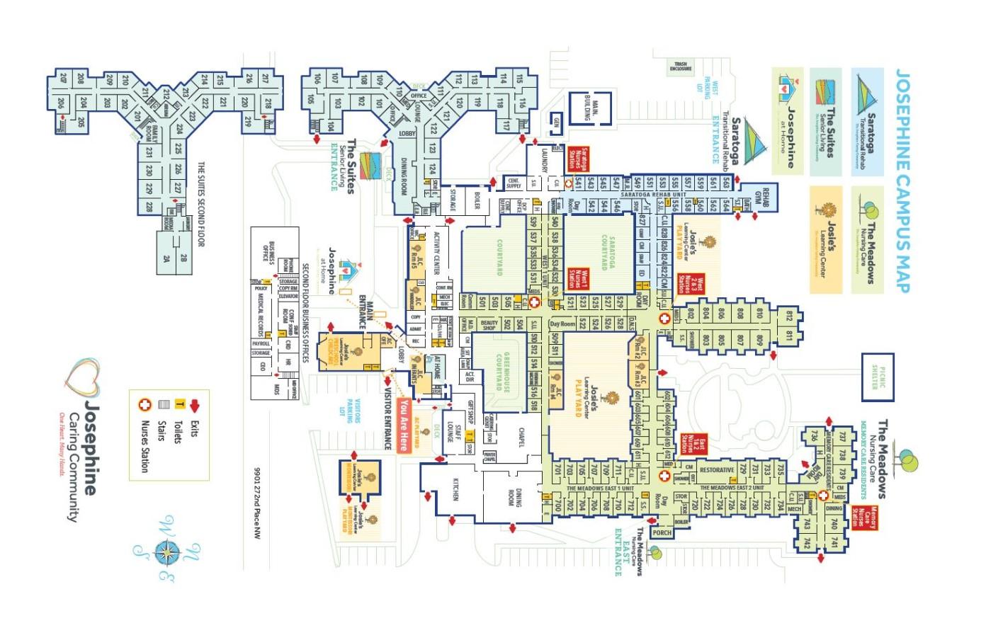 Josephine Caring Community Campus Map
