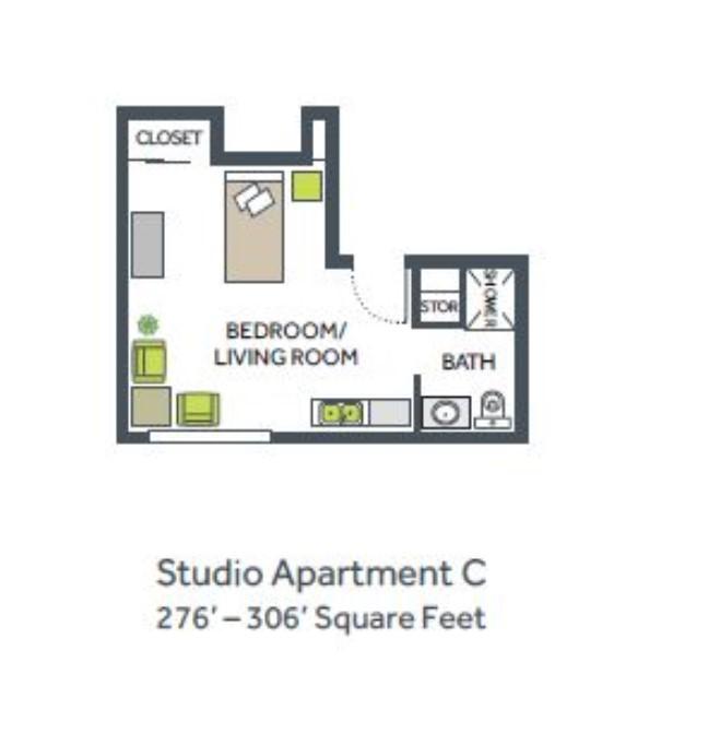 Studio Apartment C